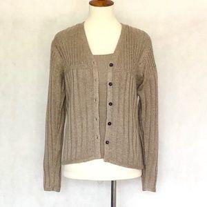 Sigrid Collection Cardigan & Tank Top Sweater Set